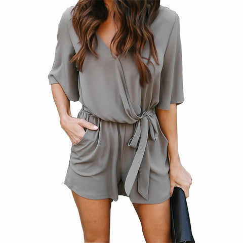 Casual Women Sexy V-Neck Romper