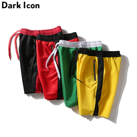 Side Patchwork Color Block Men's Shorts