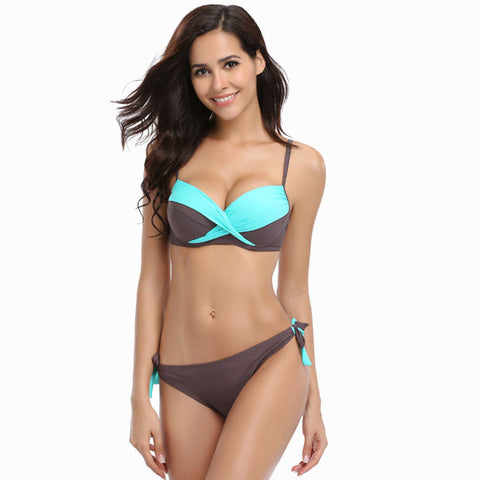 Women Bikini Cross stitching Low Waist Swimsuit