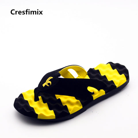 men fashion plus size striped flip flops