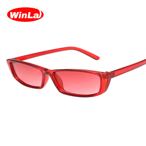 Classic Rectangle Shape Female Retro Sunglasses