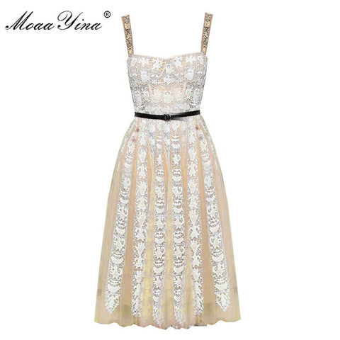 MoaaYina High Quality Fashion Designer Runway Dress