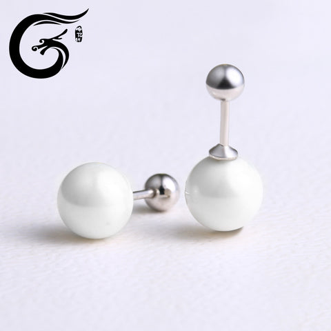 fashion spiral pearl earrings