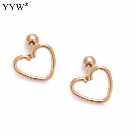 Surgical Steel Heart Piercing Ear Studs
