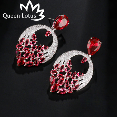 Queen Lotus new fashion zircon earrings