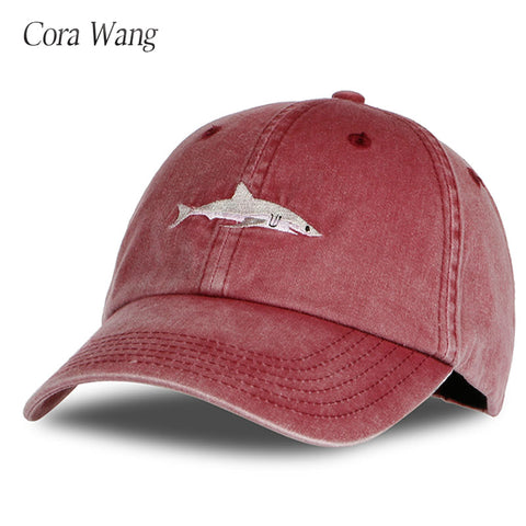 Shark Embroidery baseball cap for Men hats
