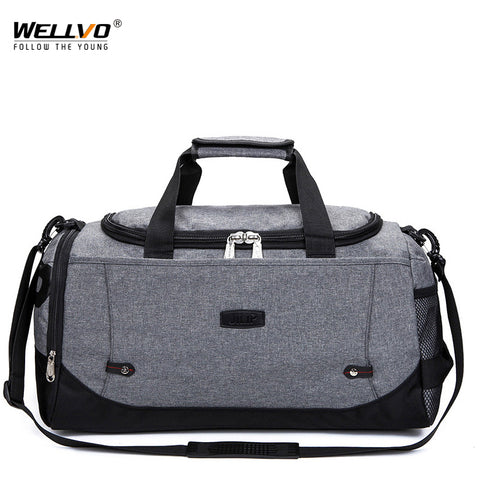 Men Travel Duffle Solid Crossbody Luggage Bag