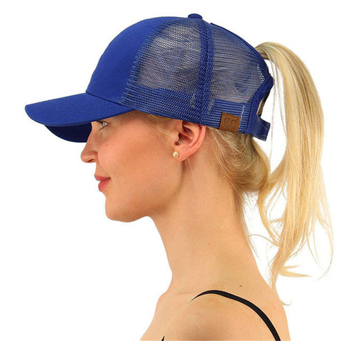 CC Ponytail Baseball Snapback Caps For Women