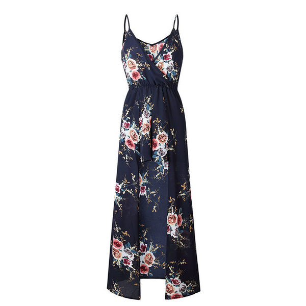 Floral Print Sleeveless Jumpsuit for Women
