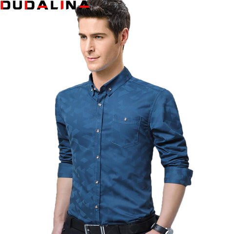 Cotton Slim Fit Shirt Business Men's Dress Shirts