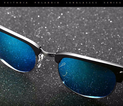 Alloy Polarized Vintage Retro Sunglasses