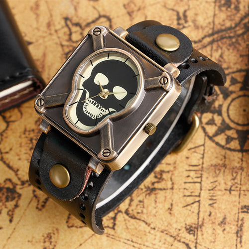 Square Skull Watch for men
