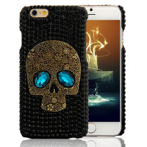 Saphire eyes Skull Case For iPhone & Samsung Models