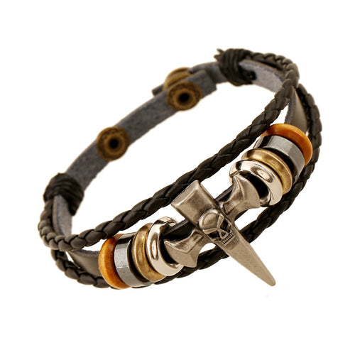 Punk Rock Skull Bracelet for Men