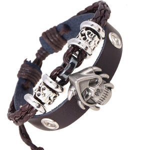 Punk Style Bracelets  -  Pirate Skull Head
