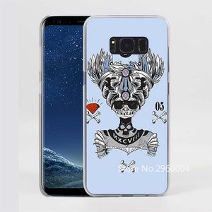 Skull Pattern Clear Phone Case for Samsung Galaxy Phones