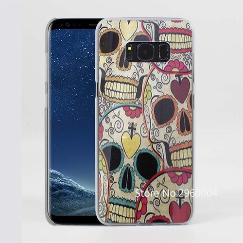 Mexican Skulls Pattern Clear Phone Case for Samsung Galaxy Phones