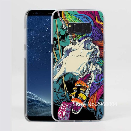 Unicorn Skull Pattern Clear Phone Shell Case for Samsung Galaxy S8Plus S6 S7 edge S8 S5mini Note5