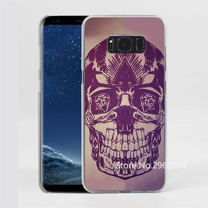 Third Eye Skull Pattern Clear Phone Case for Samsung Galaxy Phones