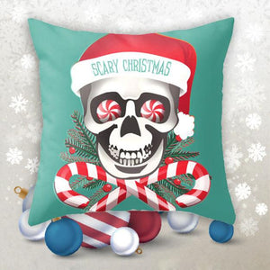 Christmas Skull Pillow Case