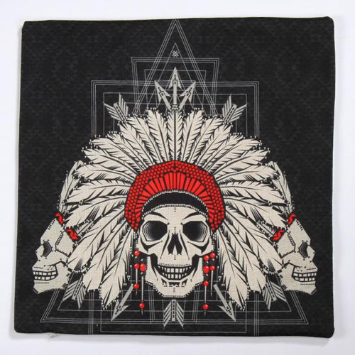 Indian Skull Pillow Case