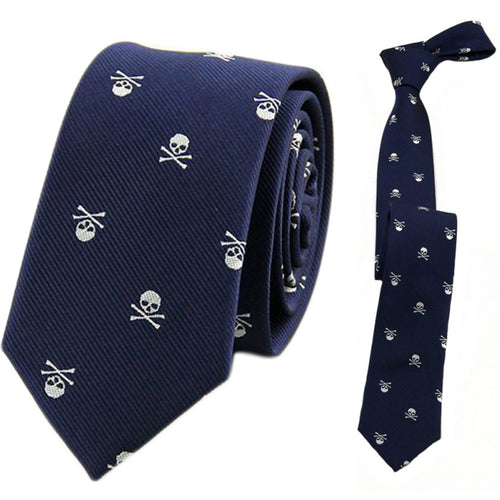 Skull Neck Tie for Men - 6 Colors