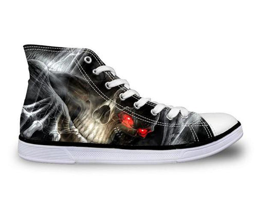 Destroyer Skull Shoes Canvas - Men's High Top