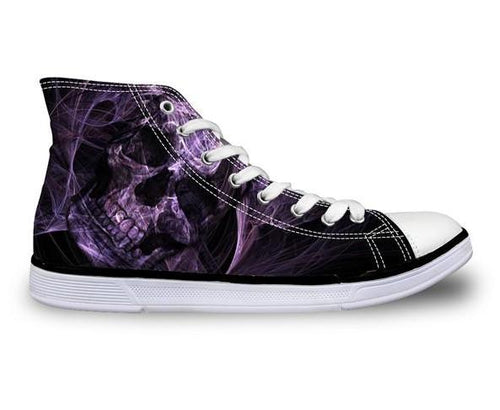 Fog Skull Canvas Shoes - Men's High Top