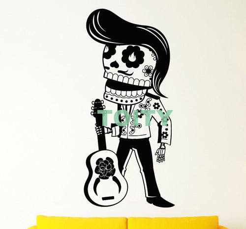 Vinyl Wall Decal Mexican Day Of The Dead