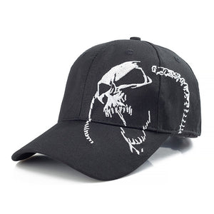 New  100% Cotton Skull  Baseball Cap