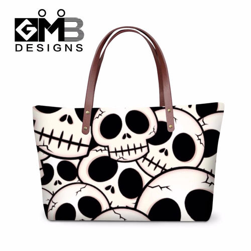 2018 Women's Skull Pattern Over Shoulder Handbags