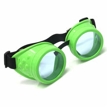 Load image into Gallery viewer, UV Glow in The Dark Steampunk Rave Goggles diffraction wholesale umbrellalaboratory