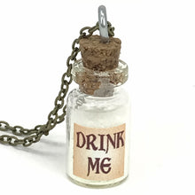 Load image into Gallery viewer, Alice in wonderland drink me necklace