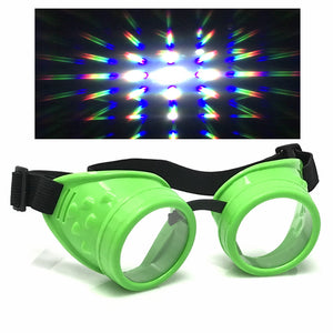 UV Glow in The Dark Steampunk Rave Goggles diffraction wholesale umbrellalaboratory
