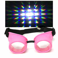 UV Glow in The Dark Steampunk Rave Goggles Glasses diffraction wholesale umbrellalaboratory