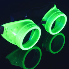 Load image into Gallery viewer, UV Glow in The Dark Steampunk Rave Goggles Glasses diffraction wholesale umbrellalaboratory