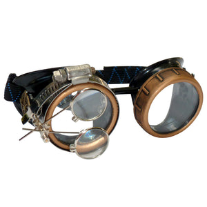 Steampunk Goggles Rave Glasses rave wear clear lenses