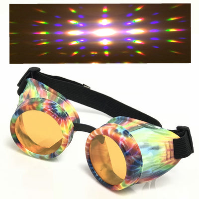 rave diffraction goggles steampunk glasses