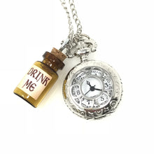 Load image into Gallery viewer, Alice in Wonderland pocket watch necklace