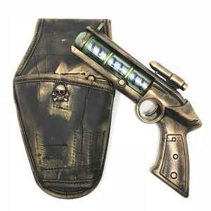 Steampunk Toy Gun with holster and belt Spinning Galaxy Lights Cosplay Costume Space Cowboy