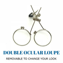 Load image into Gallery viewer, Steampunk Monocle Eyepatch Goggles- Rave Glasses, ocular loupes, clear lens