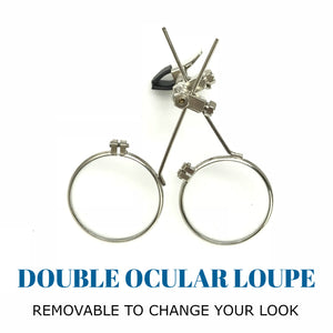 Steampunk Monocle Eyepatch Goggles- Rave Glasses, ocular loupes, clear lens