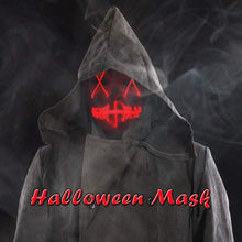 Load image into Gallery viewer, Rave Mask Led Red Purge Costume Mask Halloween Cosplay