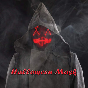Rave Mask Led Red Purge Costume Mask Halloween Cosplay