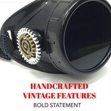 Load image into Gallery viewer, Steampunk Monocle Eyepatch Goggles- Rave Glasses, black lens