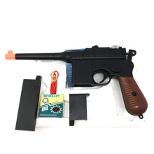 Load image into Gallery viewer, WW2 New Airsoft Toy Gun German Mauser c69 Broomhandle Steampunk DIY