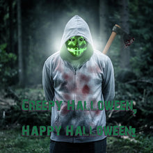 Load image into Gallery viewer, Rave Mask Led Green Purge Costume Mask Halloween Cosplay