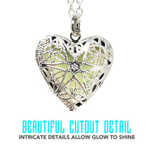 Load image into Gallery viewer, UMBRELLALABORATORY Steampunk Fairy Magical Glow in the Dark Heart like custom made Necklace-gifts for teen girls,Mother, Father, little girls jewelry