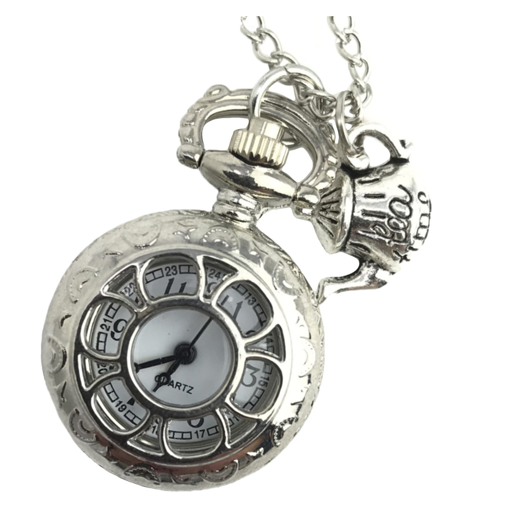 Alice in Wonderland pocket watch necklace