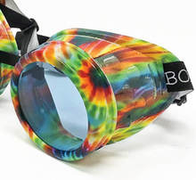 Load image into Gallery viewer, UV Glow in The Dark Steampunk Rave Goggles Glasses umbrellalaboratory